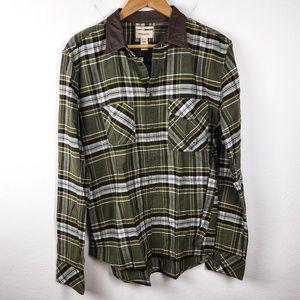 Diesel   Green Slim Fit Flannel Button Down XL
